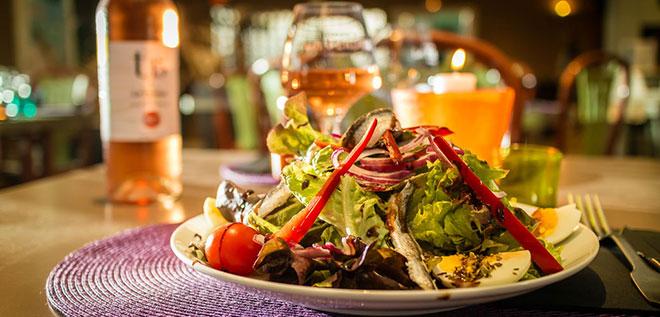 Salade restaurant-Ma Prairie camping 4 étoiles