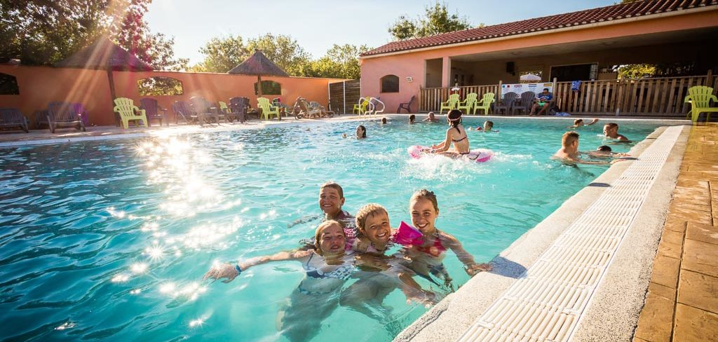 Piscine famille camping Ma Prairie 4* Canet en Roussillon