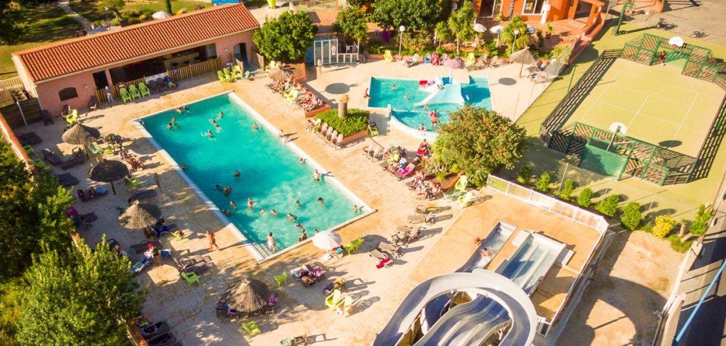 camping avec piscine et toboggan Canet en Roussillon