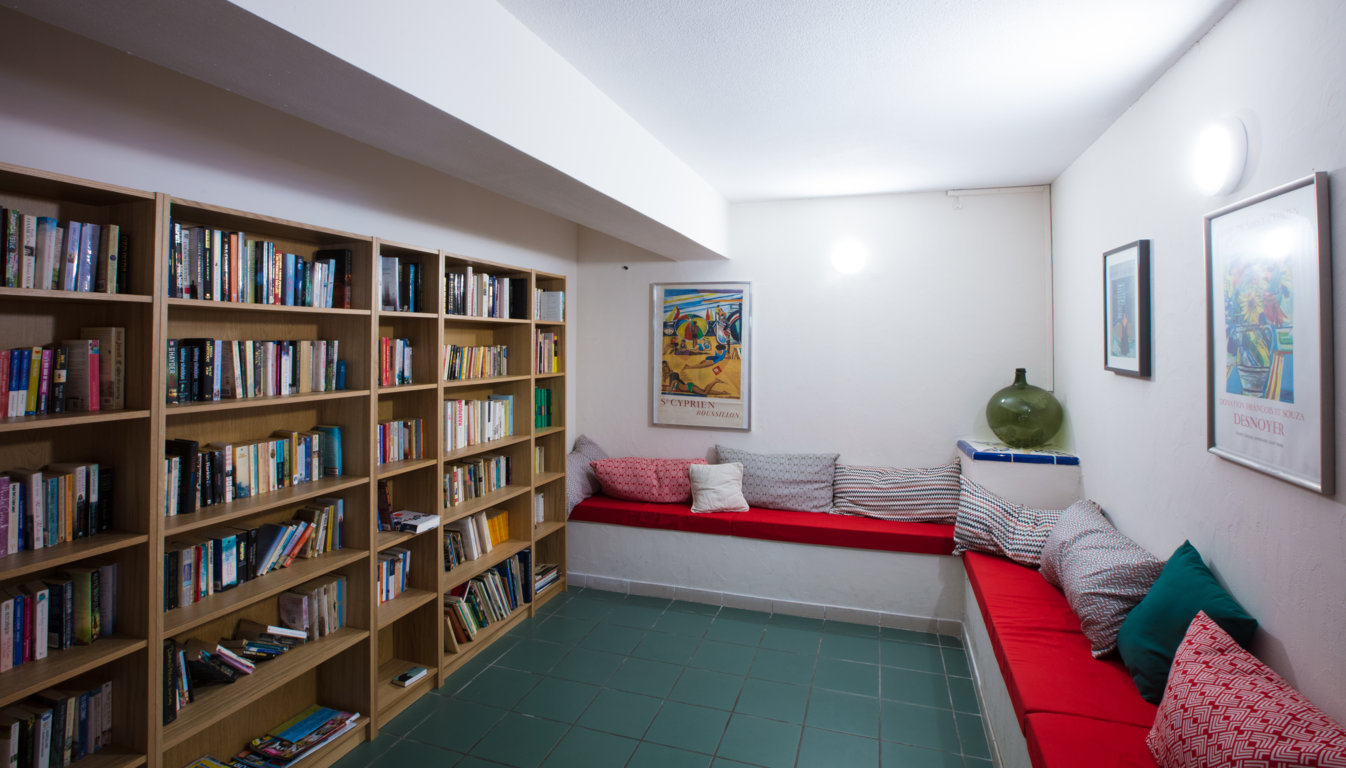 Camping with library in Canet-en-Roussillon